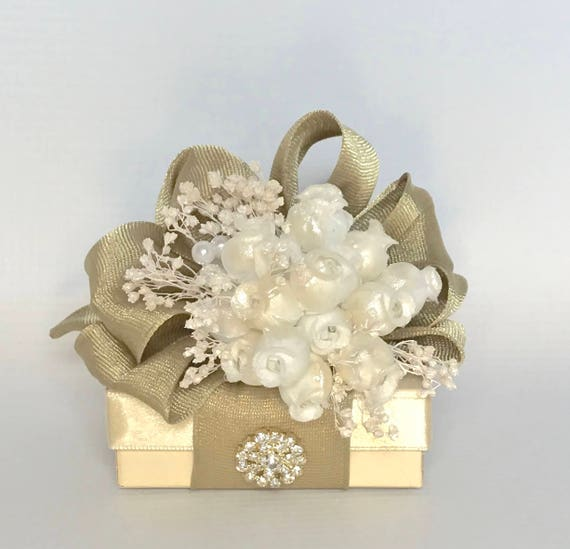 Gift Box Jewelry Gift Box Gold White Gift Boxes Wedding Favor