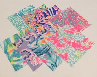 Summer Mix 2017   ~fabric squares 6 X 6~   Eight to a lot  ~Lilly Pulitzer~