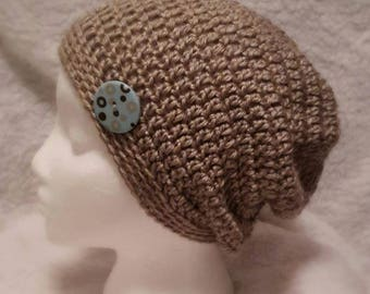 Lightweight crochet Slouchy with button