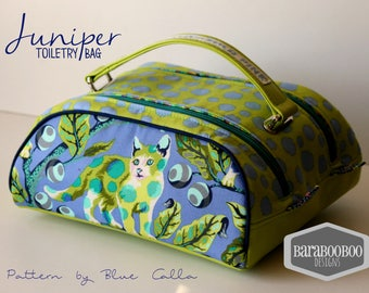 Tabby Road cats Juniper Toiletry bag cosmetic double zipper bag travel