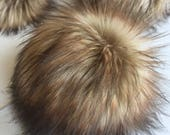 Toasted Marshmallow Faux Fur Pom Poms Brown Tan Caramel Natural Color for Toques Beanies Hats Vegan Fake Plush Super Soft Pile Craft Supply