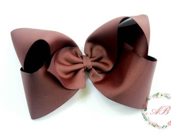 Brown Boutique Hair Bow - Extra Large Brown Hair Bow - Extra Large Brown Boutique Bow - Brown Boutique Hair Bow