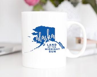 Alaska State Song Mug | Alaska Lyrics Mug | Anchorage Mug | Alaska Anchorage Mug | Alaska State Outlines Mug | Northwest Mug