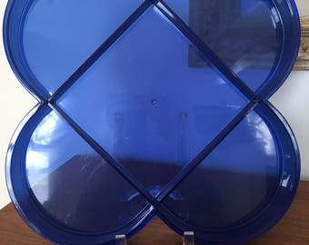 Vintage Dansk Divided Serving Tray by Gunnar Cyren -- Clear Blue