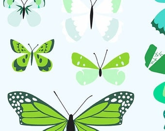 Natural History - Butterflies Green by Lizzy House from Andover