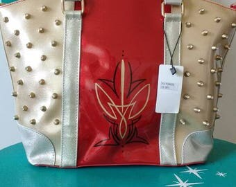 Red Glitter Patent Leather Hot Rod Purse