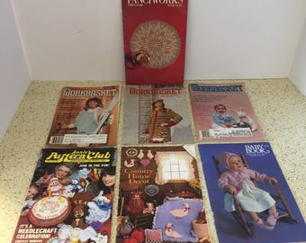 Lot of Vintage Craft Magazines Workbaskets and More - Knitting, Crochet and More