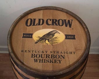 Old Crow Kentucky Straight Bourbon Whiskey Barrel-Sanded-Finished-FREE SHIPPING