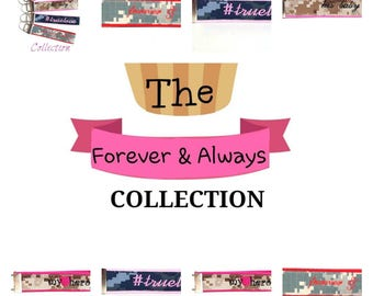 The Forever & Always Military Keyfob Collection ~ Customizeable