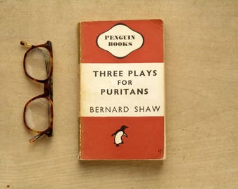 Penguin books Three Plays for Puritans by Bernard Shaw penguin paperback