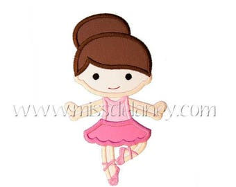 ON SALE Ballerina1 Applique Design