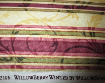Willowberry Winter by Willowberry Lane and Maywood Studio stripe and swirls last piece
