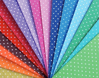 Felt Polka Dots Printed 5 Sheets