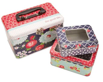 The Good life three nested  tins by  Bonnie and Camille for Moda fabrics