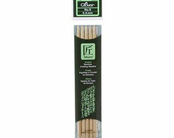Clover Takumi Bamboo 7 inch Double Pointed Knitting Needles, Size 5.5mm, No. 9 (3015/9)