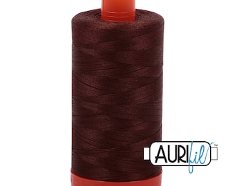 Aurifil Italian Threads-100% Cotton 40wt Piecing and Applique-Large Spool 1092 Yards-2360 Chocolate