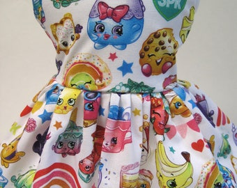 Shopkins Packed Rainbow Celebration, Sleeveless Dress for your 18 Inch Doll D