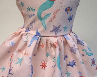 Mermaid Dreams, Sleeveless Dress for your 18 Inch Doll B