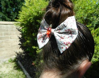 Stranger Things inspired fabric bow