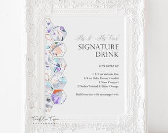 Printable Signature Drink Sign - Paint Splatter