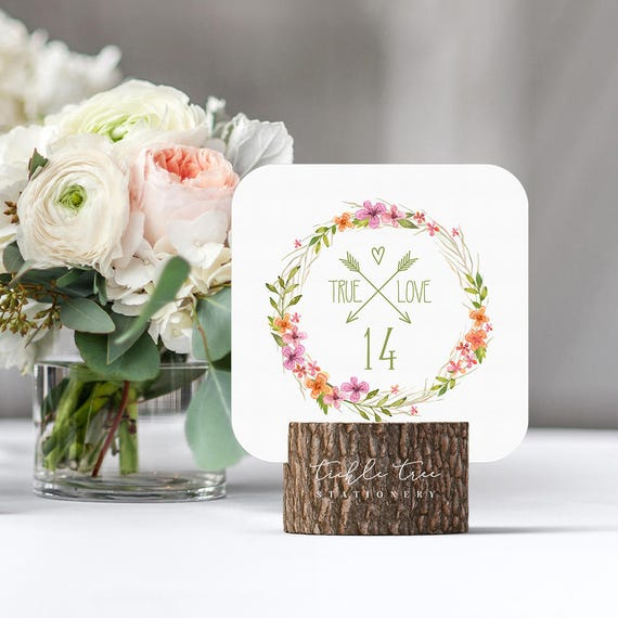 Table Numbers - Summer Wild Flower (Style 13599)