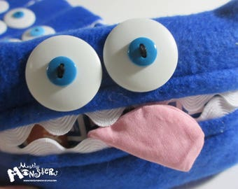 Kleenex Kreature; Tissue Holder; Pocket Tissue; Travel hankie;  back to school; purse pal; tissue cover; royal blue tissue monster