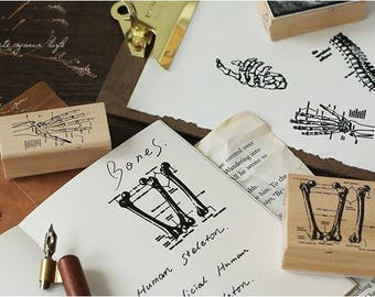 Body - Wooden Rubber Stamp