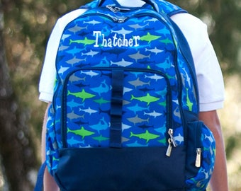 Boys Personalized Backpack - Monogrammed Backpack - Jawsome Book Bag ~ Monogrammed Boys Book Bag ~ Shark ~ FREE Personalization~Quick Ship