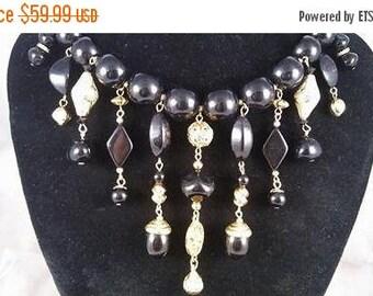 On Sale Trifari Big Chunky Retro Runway Statement Necklace ** Vintage 1960's Jewelry ** Designer Signed