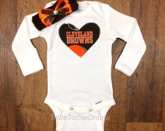 Cleveland Browns Bodysuit AND Headband
