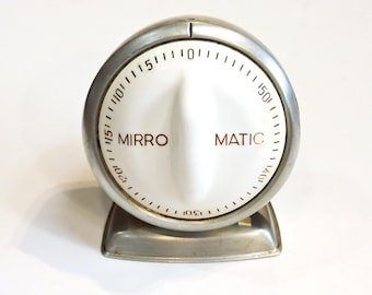 Aluminum Lux Mirro-Matic Timer, Vintage Dial Time Keeper Baking Cooking Gadget Tool, Gift for Baker Chef Cook, Retro Kitchen itsyourcountry