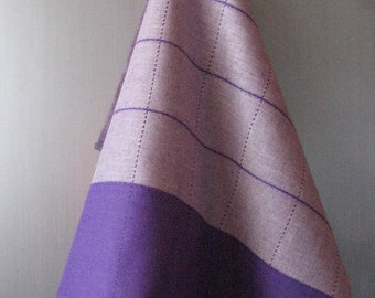 Purple Tea Towel Set Stripes Striped Kitchen Towels Linen Towel Linen Hand Towels Tea Towels Linen Dish Towel