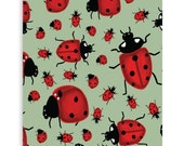 "Ladybug Art Print - 8x10"", 11""x14"", 18""x24"" - Wall Art - Garden, Luck, gift, home decor"