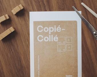 Maquette de la couverture de la pièce Copié-Collé