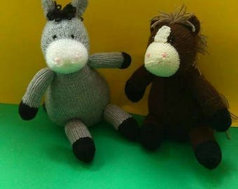 Hand knitted toys horse