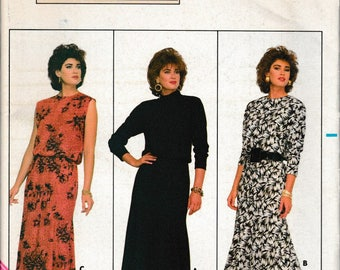 1970's Sewing Pattern Butterick 4035 Misses Dress bust 36, 38, 40