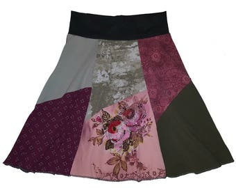 Upcycled Skirt Women's Small Medium Size 4 6 8 Hippie Skirt Recycled Skirt Repurposed Skirt Twinkle Skirts Twinklewear