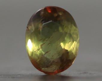 Bi Color Tourmaline Faceted Gem - October Birthstone Precious Gemstone (CA9854)