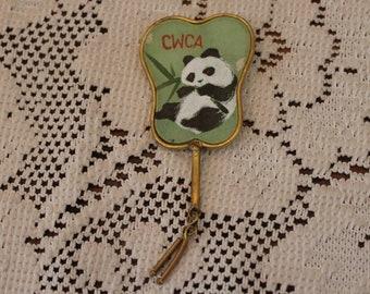 Vintage CWCA Panda Pin Brooch