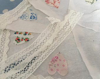 Linen fabric bunting,banner,flag,pennant,wedding,garden ,event,baby shower,garden ,part party flags