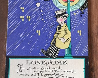 Postcard Lonesome antique