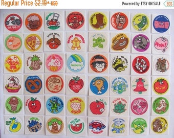 SALE Vintage Trend Matte Scratch & Sniff Stickers 80's - You Choose One or Whole Lot of 48 - Pizza Gingerbread Mint Rootbeer Licorice