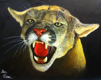 Growling Panther