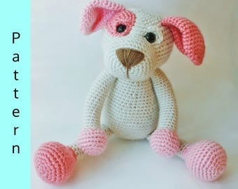 PATTERN- Puppy PDF Pattern, amigurumi Dog, crochet Dog, INTERMEDIATE crochet animal