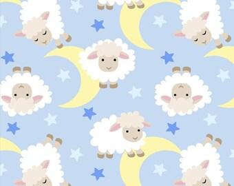 David Textiles Sweet Dreams Anti Pill Fleece Fabric by the Yard -Blue