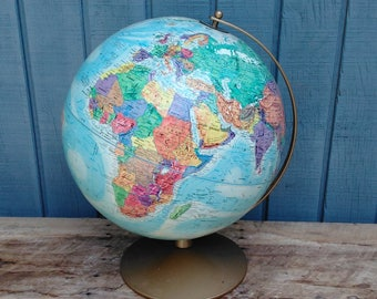 "Vintage Globe - World Globe - Office Decor - Replogle World Nation Series Globe - 12"" Diameter Globe"