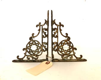 Vintage pair of wrought iron brackets