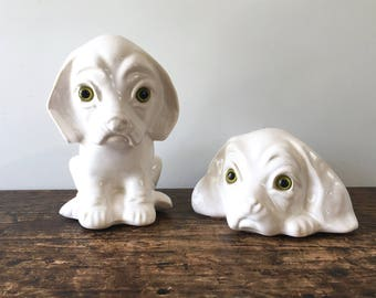 Canadiana Pottery Dogs, The Collectables 303 and 304