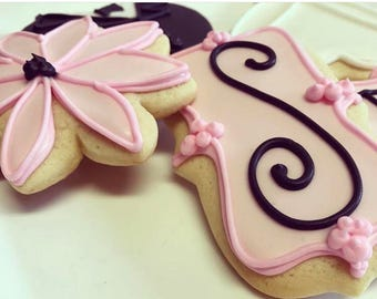 Wedding Bridal Gifts Wedding Cookies Iced Decorated Favors