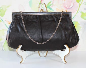 Lovely Vintage Etra, Brown Leather Clutch, Purse